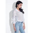 Großhandel Hemden & Blusen: Durchbrochene Hemd, Schnitte, Qualität, weiß