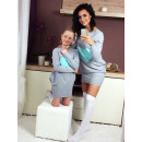 wholesale Childrens & Baby Clothing: Dress sweatshirt,  mom and baby, gray, mint