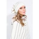 wholesale Headgear: Set, hat, scarf,  chimney, quality, ecru