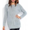 Pullover, Tunika,  hohe Qualität, grau, S / M