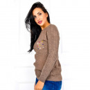 wholesale Fashion & Apparel: Soft sweater,  pockets, beads, cappuccino