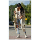 Long sweater coat,  bedspread, oversize, beige