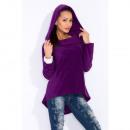 wholesale Coats & Jackets: Sweatshirt with a collar, fleece, high quality, vi