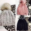 Großhandel Kopfbedeckung: Geflochtene Kappe,  Quaste, Produzent, grau