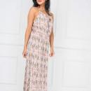 grossiste Vetement et accessoires: Maxi robe chemise  avec des fleurs, rose