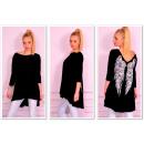 Großhandel Fashion & Accessoires: Tunika  asymmetrische,  Flügel, schwarz, ...