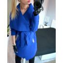 wholesale Fashion & Apparel: Coat, belt, studs, uni, cornflower