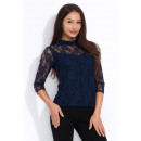 Großhandel Fashion & Accessoires: Bluse, Spitze, an  der Rückseite befestigt, Qualitä