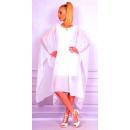 Großhandel Fashion & Accessoires: Kleid mit Chiffon, weiß, unisize