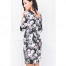 robe de fleurs, décolleté en V, tailles