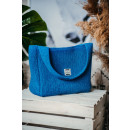 wholesale Shopping Bags: Eco bag, shopper, recycled blue yarn