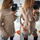 wholesale Coats & Jackets: Autumn coat, belt, pockets, beige