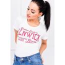 hurtownia Upominki & Artykuly papiernicze: T-shirt, brokatowy  nadruk Alnwick, biały