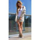Maglione italiano, punto, qualità, beige, unisize