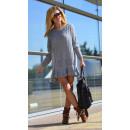 mayorista Ropa / Zapatos y Accesorios: Suéter, vestido de  suéter, volante gris unisize
