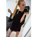 Tuniek chiffon jurk, zomer, zwart, unisize