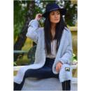 ingrosso Ingrosso Abbigliamento & Accessori: Maglione, giacca,  lunga, distintivo d'oro, gri
