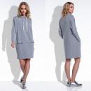 vestido de las mujeres, productor, bolsillos, gris