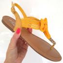 Sandalen, Flip-Flops, Bogen, Frühling, gelb
