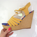 Großhandel Schuhe: Schuhe, Sandalen, Frühling, gelb