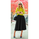 wholesale Fashion & Mode: Foam skirt, midi, wide, black