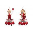 wholesale Music Instruments: Musical box Love  & Chic size 9,5x9,5x17cm.