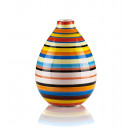 wholesale Flowerpots & Vases: Vase with dolomite-colored stripes height 15cm.