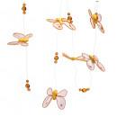 Großhandel Küchenhelfer: Gelb hängenden Schmetterling (6 Stück) Länge 120cm