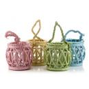grossiste Lanternes et lanternes: Lanterne lanterne avec insert en verre asst-4 pcs