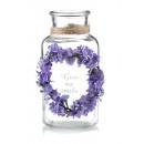groothandel Bloemenpotten & vazen: 8x6x17cm lavendel glazen vaas.