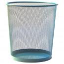 groothandel Huishoudwaren: MESH prullenbak L 35cm Sky Blue