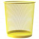 groothandel Huishoudwaren: MESH prullenbak L 35cm Limone