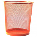 groothandel Huishoudwaren: MESH prullenbak L 35cm Orange