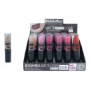 Großhandel Make-up: FLÜSSIGE MATTE LIPPENSTIFT 24H LETICIA WELL