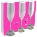 wholesale Drinking Glasses: LAV Misket  champagne glass set of 3