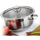 wholesale Pots & Pans: HP Ayisigi cooking  pot, glass lid, 30x20 cm, 14,0