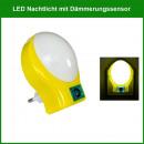 LED Nachtlicht mit  Tag- und Nachtsensor 1W gelb