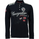 wholesale Shirts & Tops: Long Sleeve Polo Shirt Geographical Norway