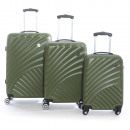 wholesale Suitcases & Trolleys: Set of 3 Geographical Norway suitcases
