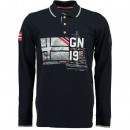 wholesale Shirts & Tops: Men's long  sleeve polo shirt Geographical Norw