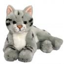 groothandel Speelgoed:Liegen grijze kat 25cm
