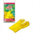 Stroomden gele handschoenen