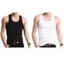 Großhandel Dessous & Unterwäsche: 4er Pack Unterhemd schwarz weiß S M L XL XXL XXXL
