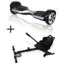 Großhandel Partyartikel: GoClever Cityboard G6 silver + Karting Kit Scooter