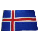 Großhandel Fanartikel & Souvenirs: Flagge Fahne Island 250 x 150 cm mit 3 Ösen