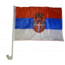 nagyker Szurkolói termékek és souvenir: Auto zászló Szerbia 30 x 40 cm