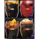 grossiste Verres: Ozeri DW080S Paquet de 4 verres thermo-verre à dou