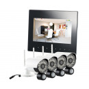 wholesale Security & Surveillance Systems: VisorTech radio surveillance set with 4 cameras