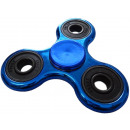 fidget finger spinner blue in metallic look