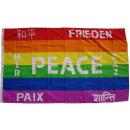 Indicador de la paz 7 idiomas 90 x 150 cm